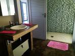 Bathroom 3 has a shower, toilet and basin