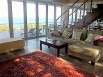 From the lounge towards the front deck and view of ocean
