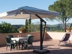 a view of the private terrace (exclusive for the guests of La Francigena)