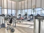 Gym at skydeck with KL city view