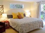 Modern Zen, Queen Bed, sliders to deck