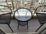 small bistro set on terrace
