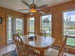 Enjoy dinner with a view from the sunny dining room table!