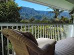 This great chaise is right outside the upper suite - look at the view! A favorite spot for reading