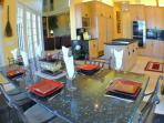 In-kitchen dining, seating for 6
