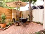 Private courtyard to relax in for your morning coffee or evening wine.