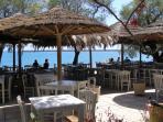 nearby taverna on the beach