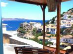 Sea view from our large, breezy, private terrace