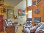 Relax amidst the mountain decor, wood paneling, and vaulted ceilings.