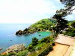 Stunning location overlooking Polperro Bay and with views of Polperro Harbour