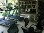Onsite fitness room available free for guests.