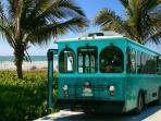 Trolley system located around the island of Holmes Beach and Anna Maria Island less than 10 miles