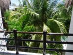 and balcony overlooking pool/garden