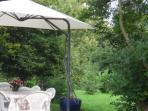 Terrasse devant séjour, chaises longues