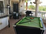 Pool table and gas bbq