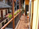 Camera Girasole: vista a nord dal balcone