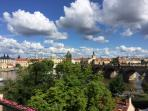View to Charles Bridge from the apartment