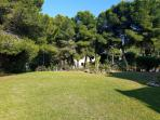 open grass area to the back of the Villa...
