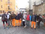 in Castelbuono bin ich mit den beruehmten Muelleseln