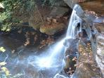 Gorgeous picture of the waterfalls at Chimney Rock