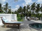 Private infinity pool and pooldeck Villa Blessings