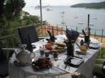 Ready for breakfast on the terrace