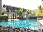 Outdoor pool & Gym.