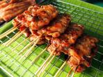 Grilled pork in the street food area.