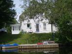 Back of house, floating dock