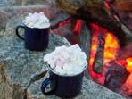 Enjoy a warming hot chocolate and relax by the fire pit long into teh evening.