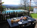 Breakfast on the terrace at La Violette