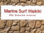 Entrance to Marine Surf Waikiki - 346 Seaside Ave