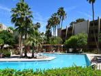 Large resort style heated pool