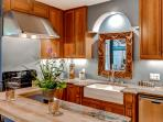 Whip up a delicious dinner in this fully equipped kitchen.