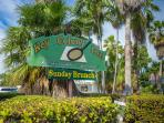 Walk on path to Key Colony Inn restaurant -bar on Ocean Drive West/7th St., just 3 1/2 blk. walk!