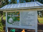 Par 3 Golf coarse clubhouse, public basketball/tennis courts, restrooms + more!
