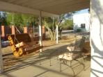 Front porch with porch swing