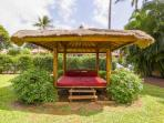 One of the cabana's located around the property at Aina Nalu.