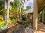 Tropical plants and water features through out this Lahaina property.