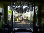 cuisine vue sur terrasse