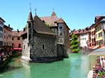 Annecy, the Venice of France, just an hour from BLB
