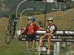 Mountain biking is a popular summer sport in the Three Valleys