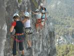 Via Ferrata – climbing with fixed ropes and ladders – Courcheval