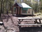Hike in Backcountry Yurt Rentals