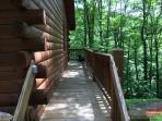Deck to Black Bear Cabin