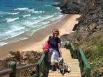 Praia de Nossa Senhora towards Cabo Sardão, 5 minute walk from the house.