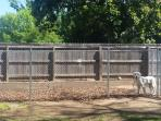 Pets welcome. Large outdoor fenced kennel available