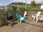 Large west facing balcony with BBQ and sun chairs.