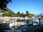 View from Sala's Piazza Matteotti towards Villa Rachele