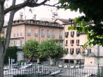 View towards Piazza Mattiotti from the shade of Bar/Pizzeria Pro-Loco